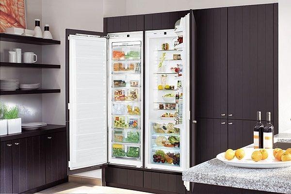 Ankastre buzdolabı Yan yana
