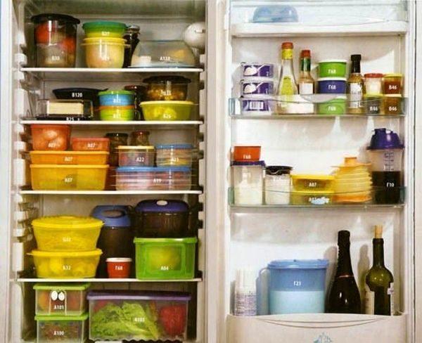 Batterie de cuisine au réfrigérateur