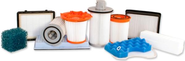 Utbytbara filter för dammsugare