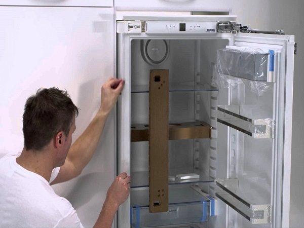 Réglage du niveau du réfrigérateur