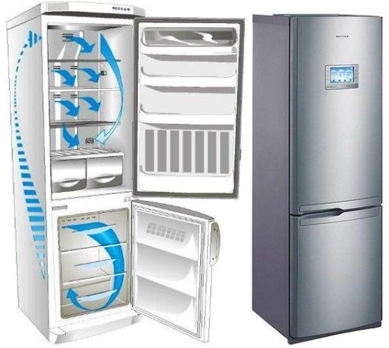 İki odacıklı buzdolabında soğutma sistemi