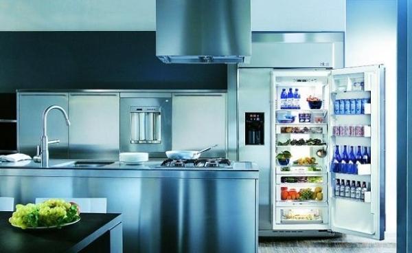 Kjøleskap i kjøkkeninnredningen