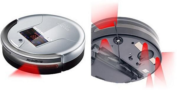 IR-sensorer i roboten dammsugare