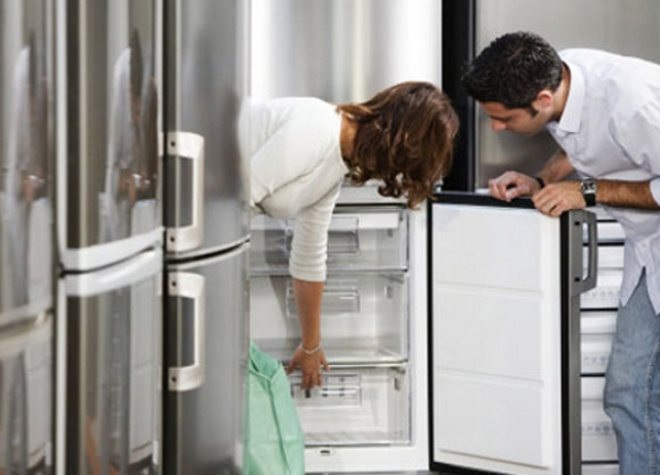 Inspection du réfrigérateur à l'intérieur