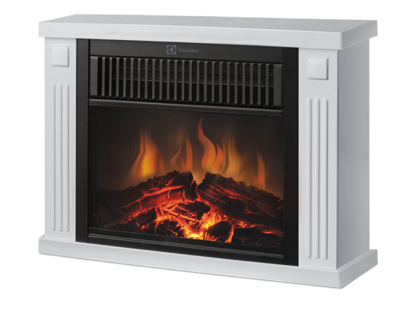 The combined option of the built-in electrofireplace