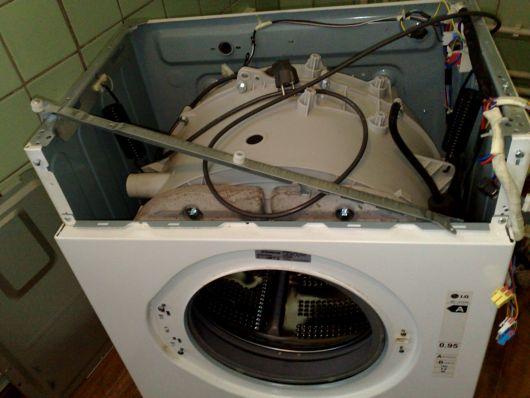 Vaskemaskin for frontlastning
