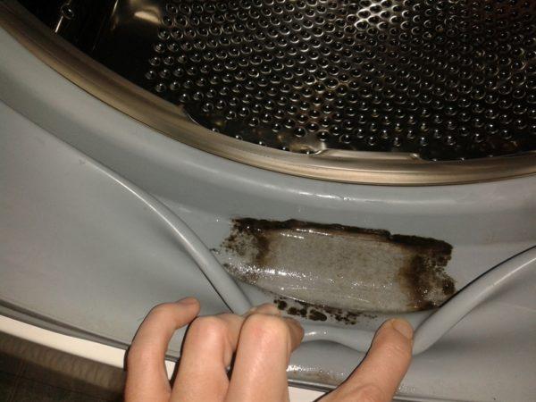 Smuts i tvättmaskinens trumma