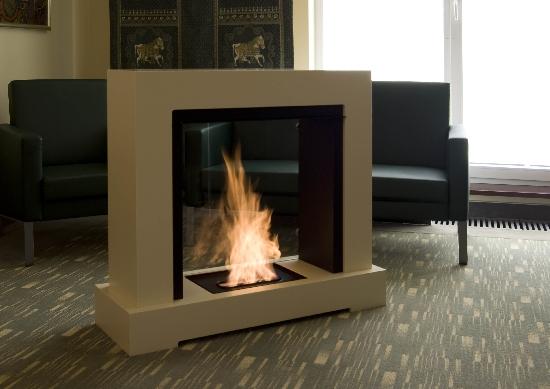 Island fireplace