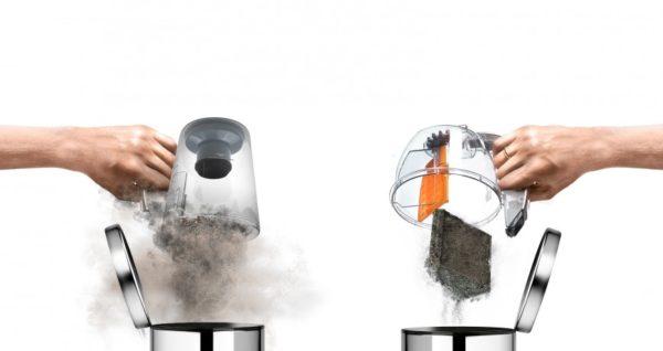 Nettoyage du conteneur de la poussière