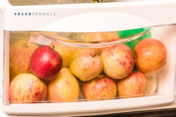 Pommes dans le frigo