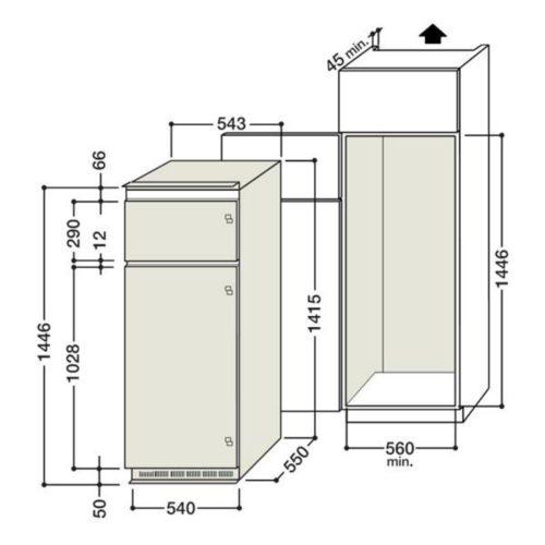 Cabinet pour le réfrigérateur
