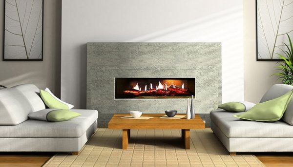 Recessed electric fire