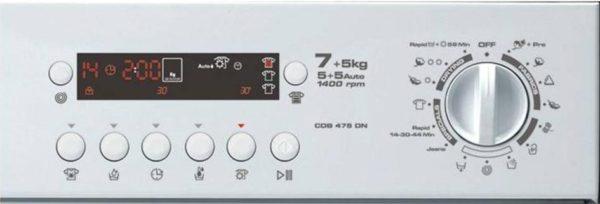 Affichage de la machine à laver Kandy