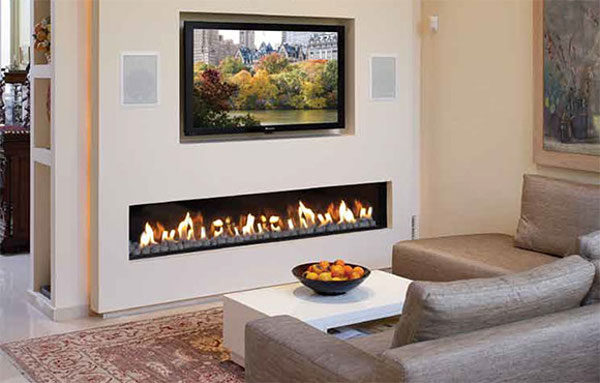 Electrofireplace in an interior