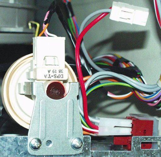 Çamaşır makinesi su seviyesi sensörü