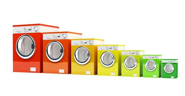 Renkli çamaşır makineleri