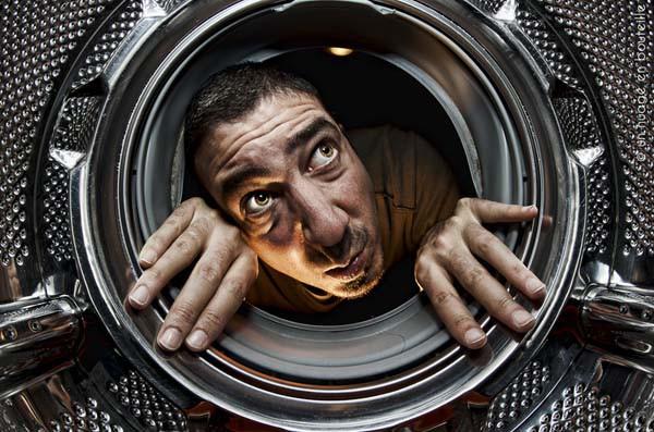Undersøkelse av vaskemaskinens trommel