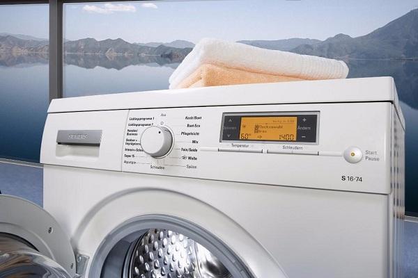 Préparation de la machine à laver au travail