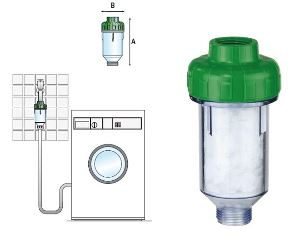 Polifosfat filtre kurulum şeması