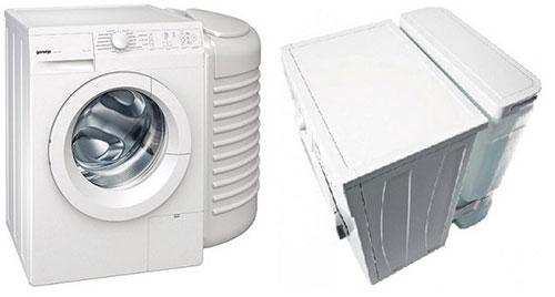 L'emplacement du réservoir d'eau dans la machine à laver