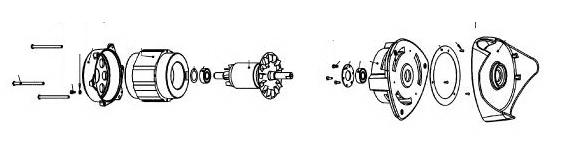 Dispositif moteur de presse-agrumes