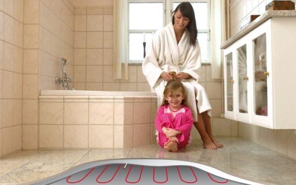 Banyoda ısıtmalı zeminler