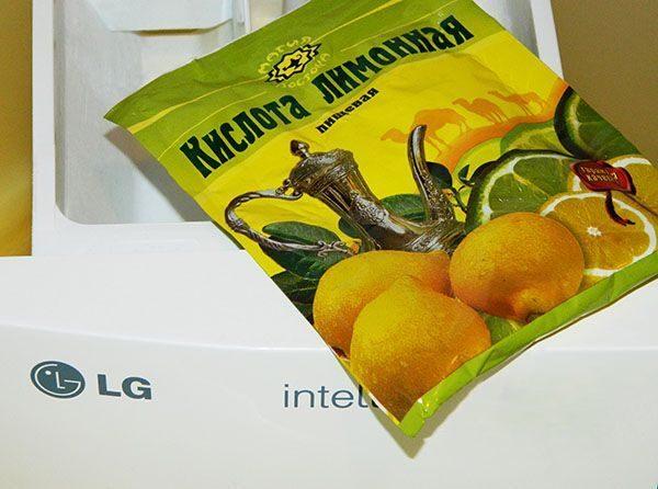 Sitronsyre rengjøringsmaskin