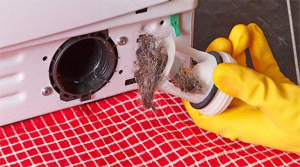 Filtre pour lave-linge encrassé