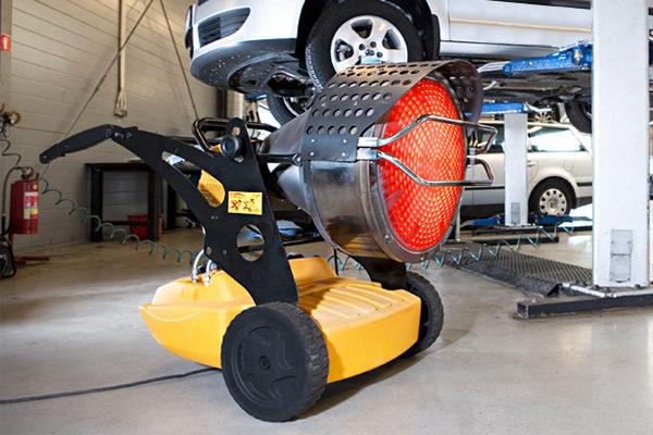 Application d'un chauffage infrarouge à carburant