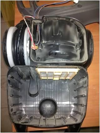 Elektrikli süpürge konut bölmesi