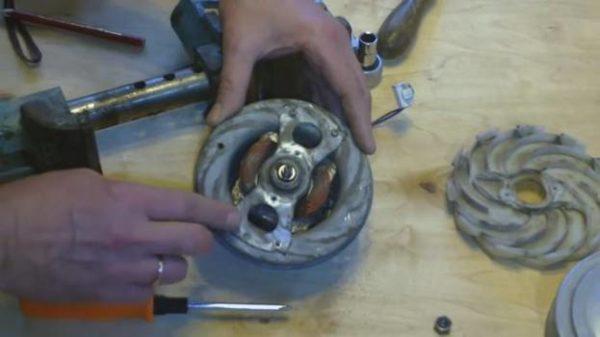 Motor demontajı