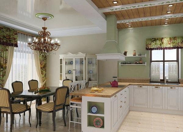 Cuisine combinée avec salle à manger