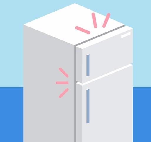 Kapı kapalıyken buzdolabının sesi