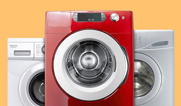 Tre vaskemaskiner