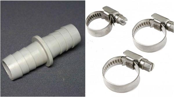 Raccord et colliers de serrage