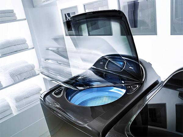 Çok fonksiyonlu üst-yükleme çamaşır makinesi