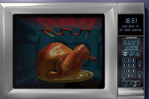 Mikrodalga fırın ve ızgaralı fırın