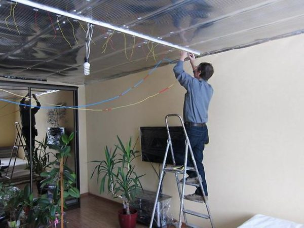 Option de chauffage de plafond
