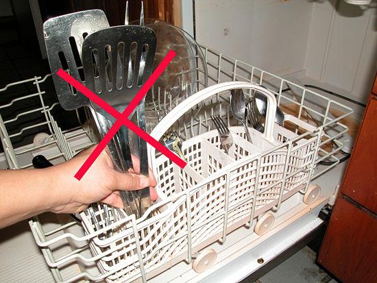 Yanlış yerleştirilmiş bulaşıklar