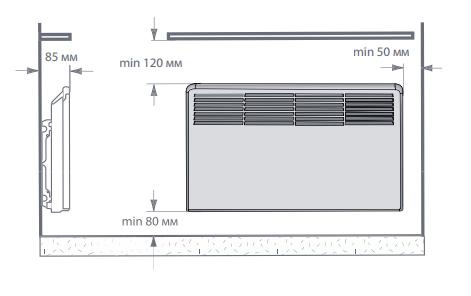 Règles d'installation du convecteur