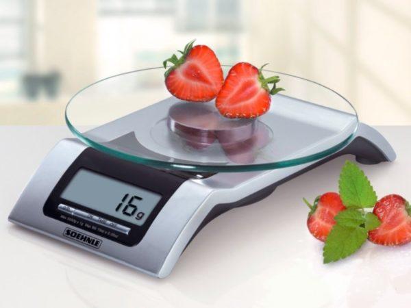 Modèle électronique de balance de cuisine