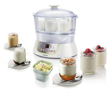 Yogurt maker and jar with product