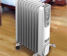 Oil heater with fan