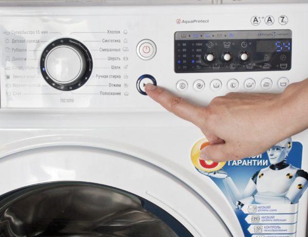 Panneau de commande machine à laver