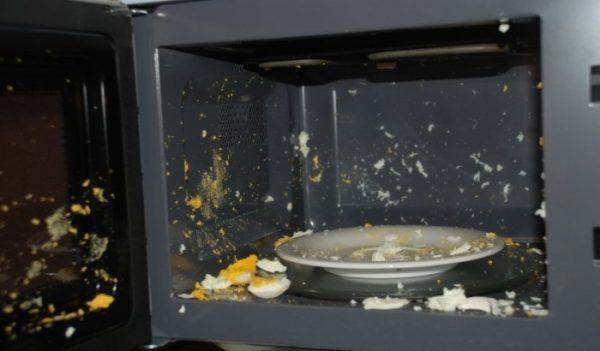 Conséquences du chauffage des œufs au micro-ondes
