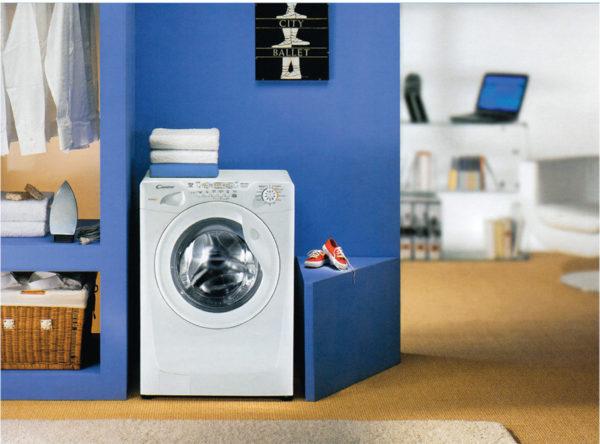 Machine à laver à l'intérieur