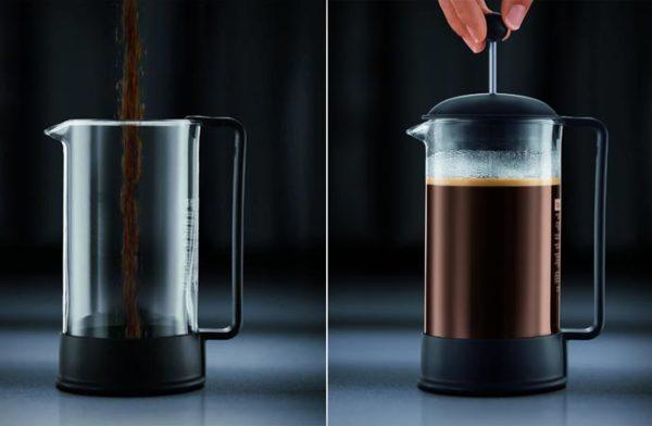Fransız basın için kahve