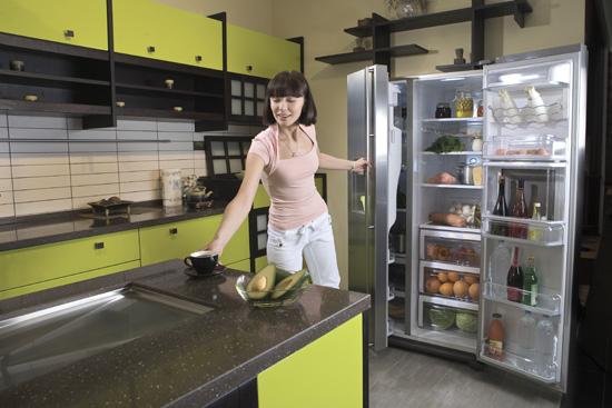 Porte du réfrigérateur non fermée