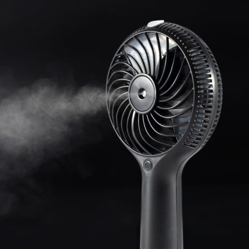Ventilateur avec humidificateur à vapeur