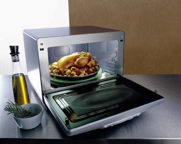 Konveksiyonla mikrodalgada pişirme